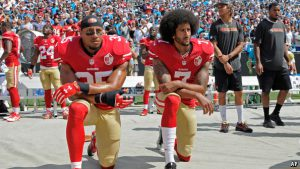 Colin Kaepernick's Silent Protest. Source: AP/The Economist